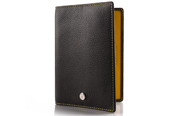 Jaguar Ultimate Passport Holder - Black With Yellow